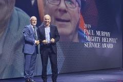2019 'MIGHTY HELFUL' PAUL MURPHY SERVICE AWARD – Bob Arnold Crameri's Mitre 10 Maryborough (received by Bernie Crameri).