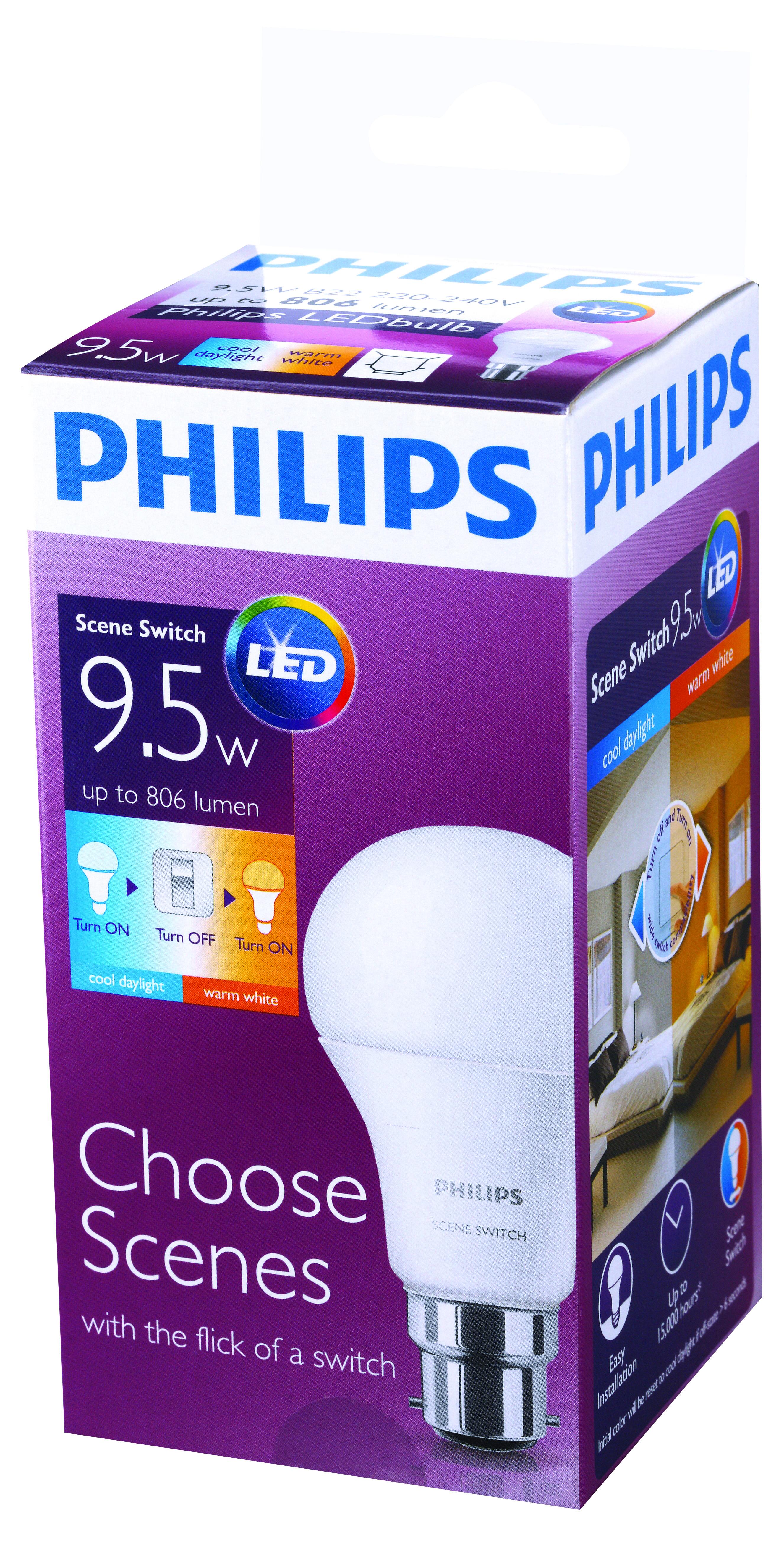 Philips Scene Switch 2 in 1 LED Bulb Australian Hardware